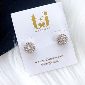 T&J Designs Rhinestones Stud Earrings