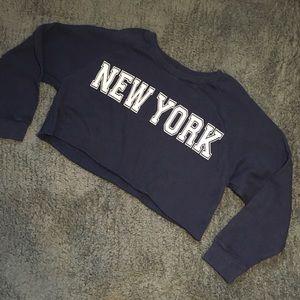 New York cropped crewneck