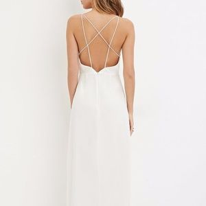 NWT Forever 21 crisscross back maxi dress