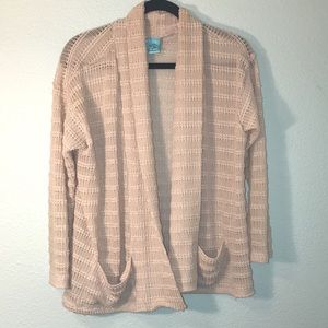 H.i.p. Knitted Flowy Cover Up Neutral