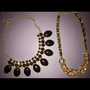 GOLD&BLACK NECKLACE PACK (2)
