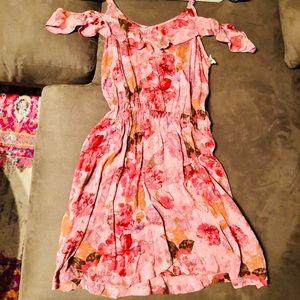 Mossimo Off-Shoulder Pink Floral Dress