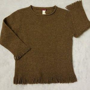 Vintage J.CREW fringe trim sweater