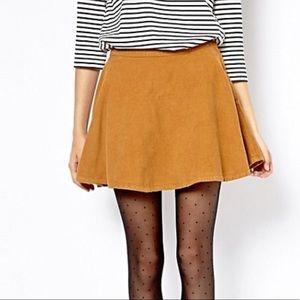 American Apparel Corduroy Circle Skirt in Camel