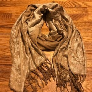 Cream and gold scarf