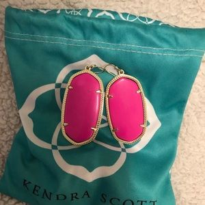 Large pink Kendra scott drop earrings