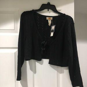 Cropped dress sweater
