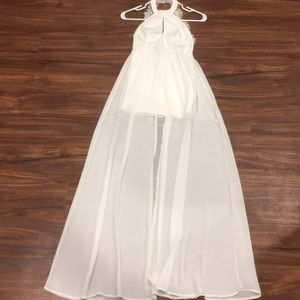 Lulus white maxi dress!