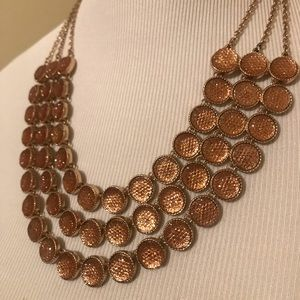 Triple layer fashion necklace