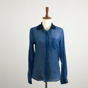 NWT MNG Suit Button-down Blouse