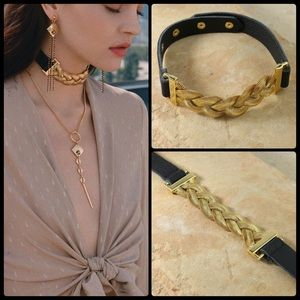 VANESSA MOONEY ✨ Aphrodite Choker - Black/Gold NWT