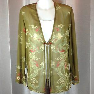 Citron silk jacket