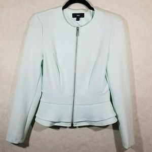 Mossimo Peplum Zip Up Mint Light Weight Jacket S/P