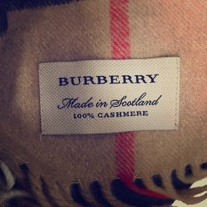 Authentic Burberry Scarf - 100% cashmere