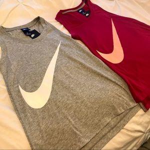2 NWT Nike Running Tanks