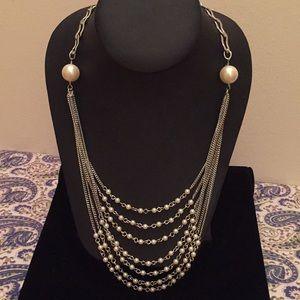 Talbots Multi-Layer Pearl Necklace