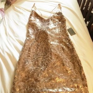 Sequence Mini Dress - Rose Gold