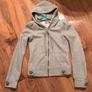 Juicy couture grey zip up hooded jacket petite