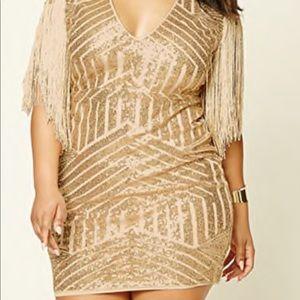 Plus size sequin fringe dress!