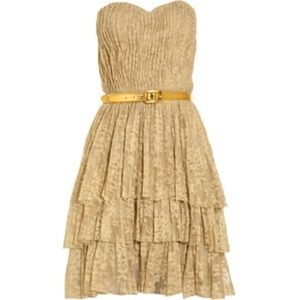 Robert Rodriguez belted tiered lace dress sz 8
