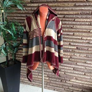 Love Token Asymmetrical Open Draped Sweater