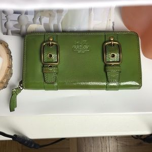 Coach long wallet with zipper around