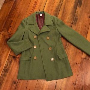 Green pea coat