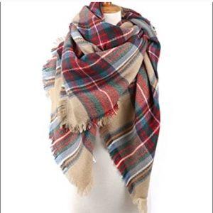 Tartan plaid Blanket Scarf