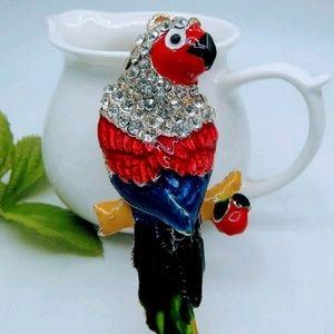 Brand new! Parrot Rhinestones Keychain