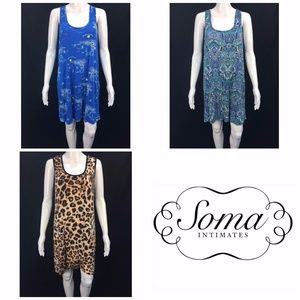 Lot of 3 Soma Nightgowns Sz M Gowns Super Soft
