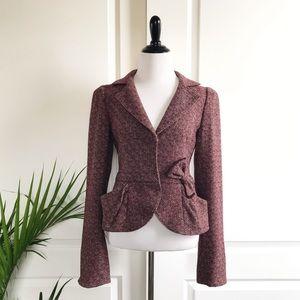 Nanette Lenore Bow Wool Blazer