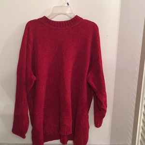 Gorgeous Rich Red High Low Sweater