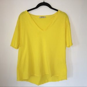 Zara Trafaluc T-shirt Yellow
