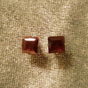 Jewelry - SOLD!!!! Garnet stud earrings, set in ss.925