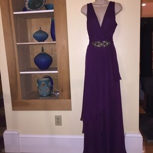 URSULA tiered dk plum maxi dress/beautiful