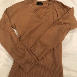 J. Crew camel, green and pink v-neck sweaters sz M