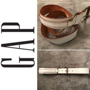 GAP White Leather Belt
