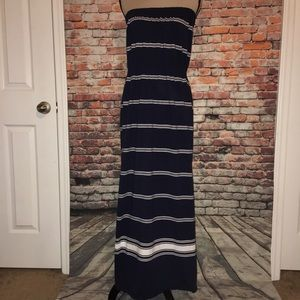 Vineyard Vines Strapless Maxi Dress Size M