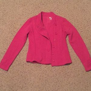 Hot pink cotton blazer
