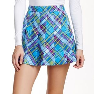 American Apparel Plaid Pleated Tennis Mini Skirt