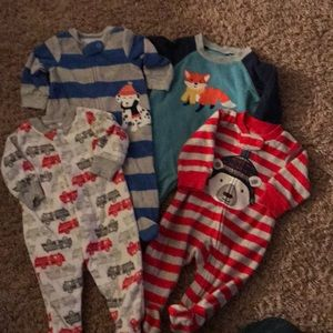 3 Months Baby Boy Carter's romper and jammies
