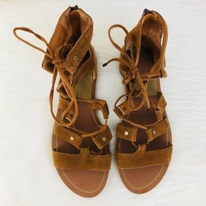 Dolce Vita Vail Suede Lace-Up Sandal