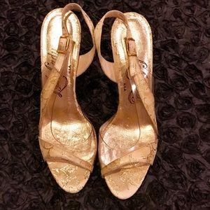 Vintage gold sandals