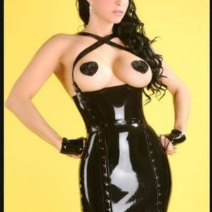 Kaori's Latex Dresses - Little Black Latex Dress