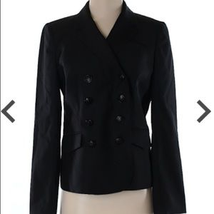 J. Crew Black Double Breasted Wool Blazer 013