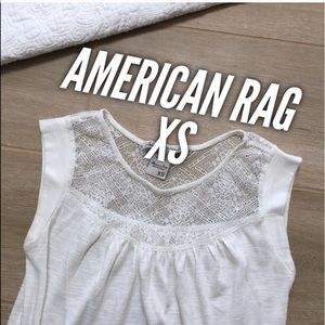 XS American Rag Shirt Lace Top Tank Blouse