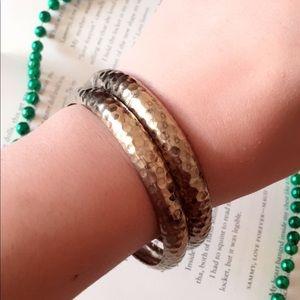 #A168 Gold Bohemian Bangle Bracelets Set