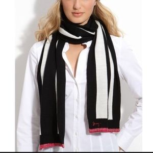 "Juicy couture ""Williams rugby"" stripe oblong scarf"