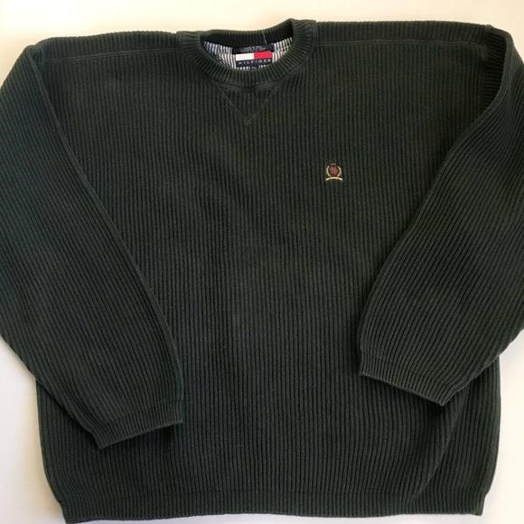 Vintage Tommy Hilfiger Green Sweat Shirt