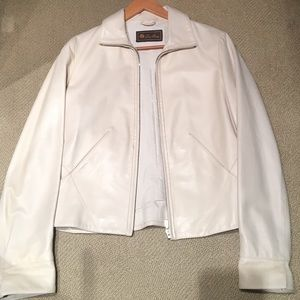 Loro Piana cream leather jacket - size 44